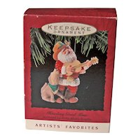 Vintage Hallmark Howling Good Time Ornament - Santa Ornament - Artists' Favorite
