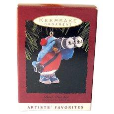 Vintage Hallmark Ornament Bird Watcher - Ornament Dated 1993