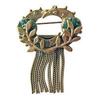 Benedikt NY Gold-tone Pin - Vintage Costume Jewellery - Designer Signed