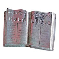 Vintage Ora Bible Pin - Designer Signed Bible Pin