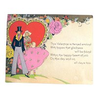 Vintage Carrington Co Valentine - Romantic Valentine - Collectible Valentine Card