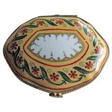 Le Gallee Paris France Porcelain Box - Signed Box  - Hand Painted Box