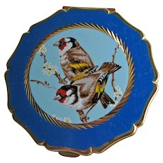 Stratton Compact with Birds - Blue Enamel Stratton Compact