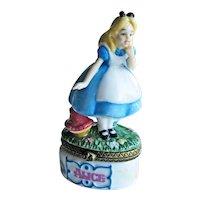 Alice in Wonderland Porcelain Box  - PHB Figural Box - Disney Alice in Wonderland