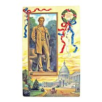 Vintage President Abraham Lincoln Postcard - International Art Publishing Company