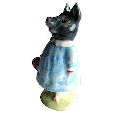 Beatrix Potter Figure Pig-Wig - Black Pig - Beswick Brown Mark Bp3a