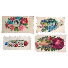 Victorian Calling Cards - Victorian Die Cut - Victorian Scrap - Vintage Ephemera