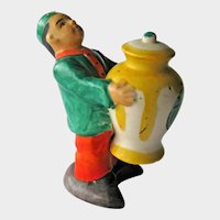 Chinese Man Holding Ginger Jar One-piece Salt and Pepper -  Collectible Salt and Pepper Shakers