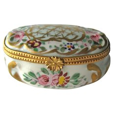 Vintage French Hand Painted Box -