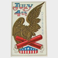 Vintage Fourth of July Postcard - American Eagle - E Pluribus Unum