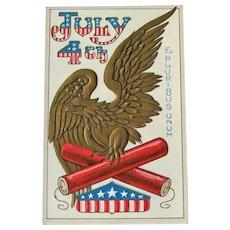 Vintage Fourth of July Postcard - American Eagle - E Pluribus Unum
