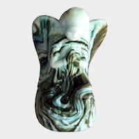 Boyd Crystal Art Glass Angel / Millennium Surprise / Angel Figurine / Holiday Angel