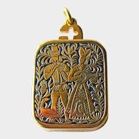 Miniature Music Box Swiss Reuge Ste Croix - The Anniversary Song - Charm Pendant Music Box