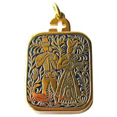 Miniature Music Box Swiss Reuge Ste Croix - The Anniversary Song - Charm Pendant Music Box