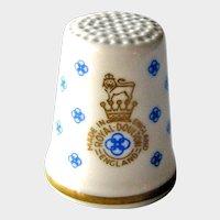 Royal Doulton Bone China Thimble - Royal Doulton Logo - Made in England