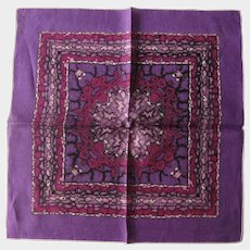 Monique Designer Hankie - Intense Purple Hankie - Abstract Design Handkerchief
