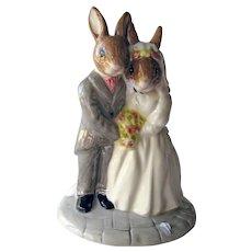 Vintage Royal Doulton Bride and Groom Wedding Day Bunnykins - Wedding Gift - Wedding Cake Topper