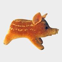 Vintage Steiff Velvet Pig Baby Boar -Steiff Pig Felt Ears and Nose - Collectible Steiff - No Tags