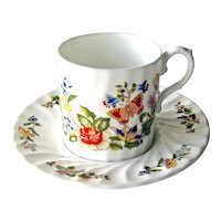 Vintage Aynsley Demitasse Cup and Saucer - Aynsley Cottage Garden - Bone China Cup and Saucer - Three Sets Available