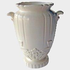 Rare Large Weller White Vase - Weller Vase R-10 - Rhapsody Weller