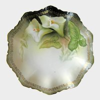 Vintage RS Prussia Dessert Plate - Calla Lilies Decor - Collectible R S Prussia