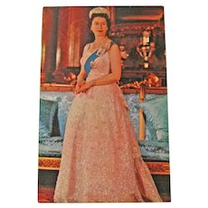 Vintage Queen Elizabeth Postcard - English Royalty Postcard - Photographic Postcard