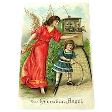 Vintage Guardian Angel Postcard - ABS Postcard - Made in Germany