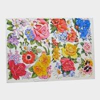 German Die Cuts of Beautiful Flowers - Vintage Die Cuts - Junk Journal Supplies