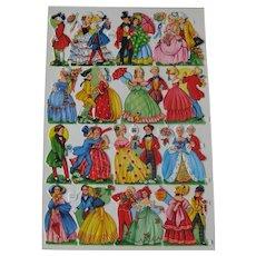 Vintage Die Cuts Victorian Couples - Couples Dancing - German Die Cuts