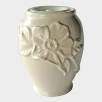 Vintage Weller White Pottery Ginger Jar - Weller Pottery - Collectible Pottery