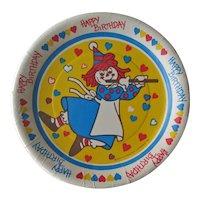 Vintage Raggedy Ann Birthday Party Plates - Artfaire Paper Plates