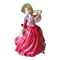Royal Doulton Miniature Pretty Lady - Royal Doulton Summer Breeze - Royal Doulton M241