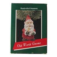 Vintage Hallmark Old World Gnome - Handcrafted Hallmark Ornament