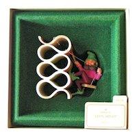 Vintage Hallmark Ornament Elfin Artist - Elf with Ribbon Candy