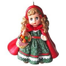 Vintage Little Red Riding Hood Hallmark Ornament - Madame Alexander Series - Second in Series