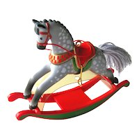 Vintage Rocking Horse Hallmark Ornament - Eighth in Rocking Horse Collector's Series
