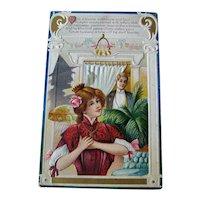 Vintage Winsch Halloween Postcard - Shadow of Witch - Love Poem
