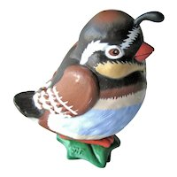Vintage Baby Partridge Hallmark Ornament - Handcrafted Clip-On Ornament - Artists' Favorites Series