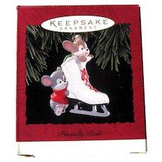Vintage Friendly Push Hallmark Keekpsake Ornament  - Dated 1994 - Christmas Tree Ornament