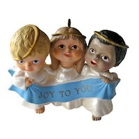 Joyful Trio Handcrafted Hallmark Ornament - Trio of Angels Singing