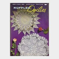 Ruffled Doilies Crochet booklet by Coats & Clark's