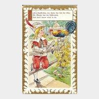 Nursery Rhyme Postcard Cock-a-doodle-doo
