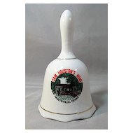 Porcelain Bell Commemorating Sam Houston's Home in Huntsville, Texas