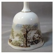Currier & Ives Winter Scenes Bell dated 1978