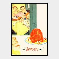 Jell-O It's Dessert Time! - Vintage Jello Recipe Booklet