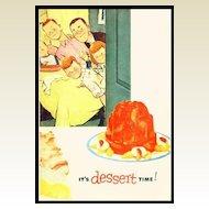 Jell-O It's Dessert Time! - Vintage Jello Recipe Booklet