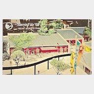 HemisFair 1968 Texas World's Fair Postcard