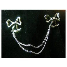 Sterling Chatelaine Bow Pins