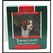 Hallmark Ornament - Thimble Puppy 1989 - Last in Series