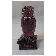 Degenhart Violet #2 Owl Figurine on Books Signed
